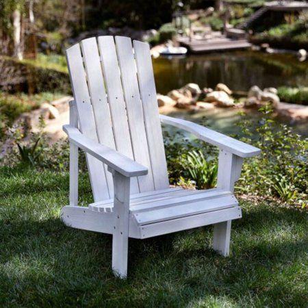 Lakewood Rustic Adirondack Chair - Distressed White