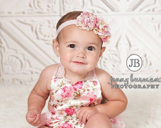 COLOR elegir diademas de bebé, niña diadema diadema recién, elegante diadema de flor, bautismo diadema, diademas de bebé, arcos del pelo.