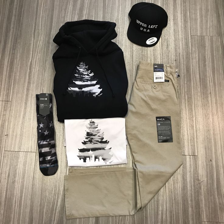 Casual Industrees J Tree Above the Clouds white Tee and Black Hoodie paired