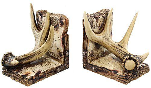 Large Decorative Deer Antler Bookends Book Ends - Weather... https://www.amazon.com/dp/B00XD4KU5K/ref=cm_sw_r_pi_dp_x_0IY6xbDSAYGC5