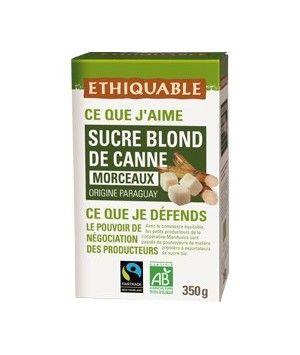 Sucre Blond de Canne en Morceaux du Paraguay -Commerce Équitable et Bio - 350grs