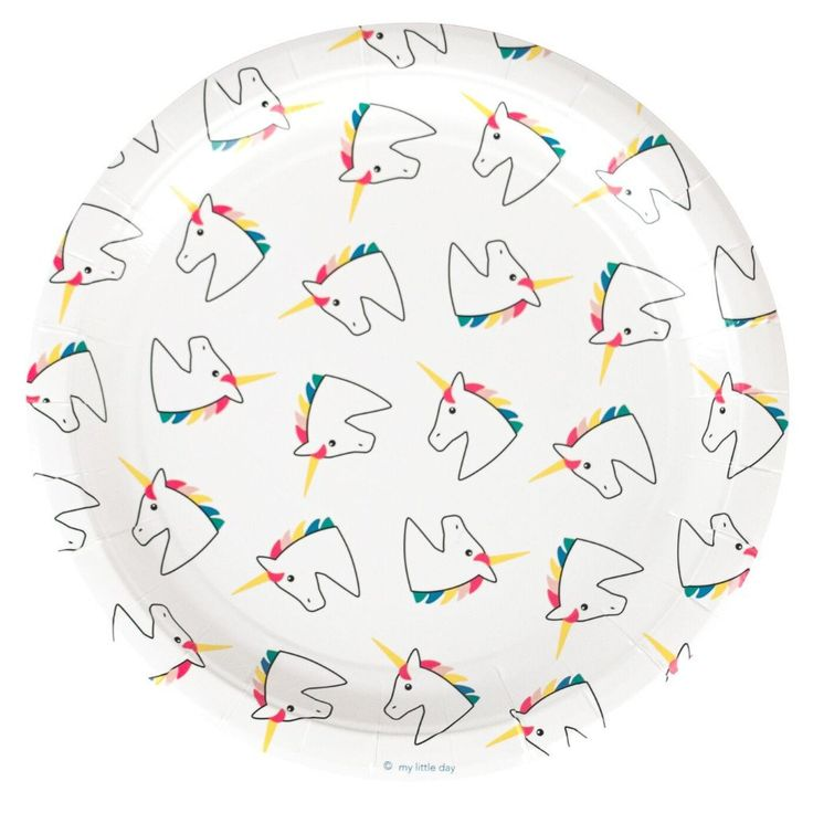 Unicorn Paper Plates (8 Pack) – Lucky Lulu Party Shop