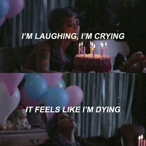 broken, cake, cry, cry baby, dark, girl, grunge, heart, indie, laugh, love, melanie martinez, music, quotes, rip, sad, sadness, pity party