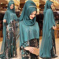 IŞILTI Abiyemizin yeşil rengi Su gibi #pınarşems #ışıltıabiye #hijab #hijabi #tesettur #tesetturabiye #newcollection