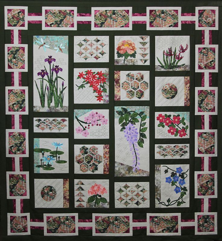 Block of the Month | Quilted Kimono | Quilts, Blankets ...