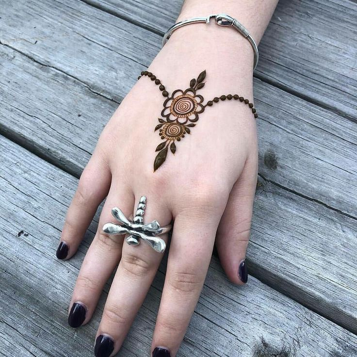 Cute Henna Idea For Hand Mehndi Designs For Hands Henna Tattoo Designs Simple Henna Designs Hand