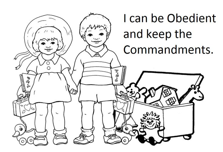 obedient coloring pages - photo#2