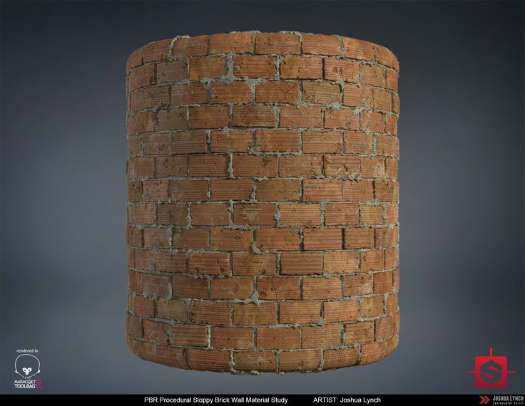 ArtStation - PBR Sloppy Brick Wall Material Study, Joshua Lynch