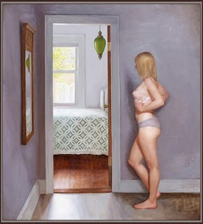 Interior With Mirror, oil on linen, 2010,Kristin Kunc, Via Women Painting Women