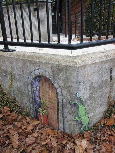 Best Street Art InteractionsChalk Art Images On Pinterest D - David zinns 3d chalk art adorably creative