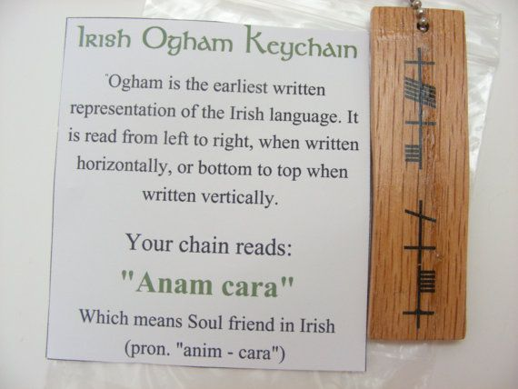 12 best anam cara images on pinterest anam cara soul friend and irish ogham wood keychain anam cara for soul friend trinity crossing mozeypictures Gallery