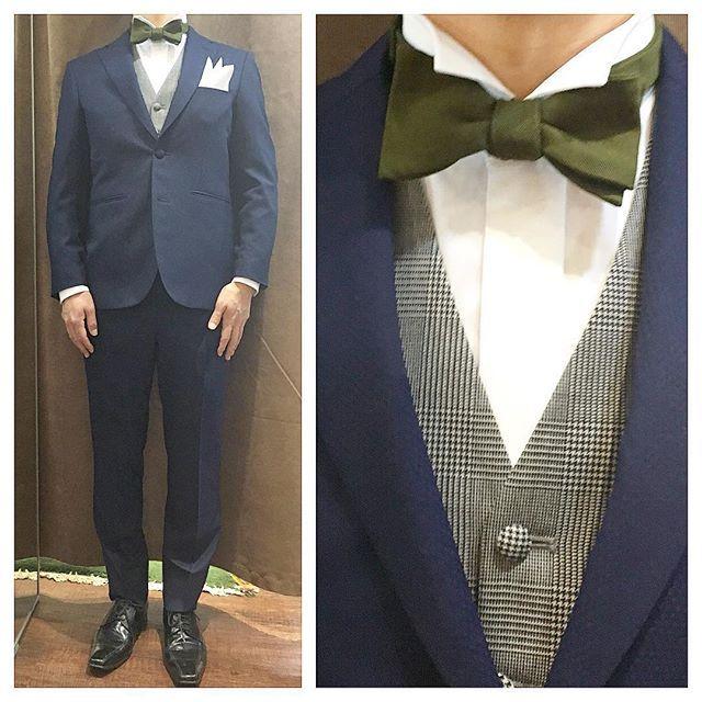 navy suit & waistcoat.  ネイビーセットアップにグレンチェックのベスト。  シンプルなスタイルにグリーンの蝶ネクタイでカジュアルに。  オーダーメイド製品はlifestyleorderへ。  all made in JAPAN  素敵な結婚式の写真を@lso_wdにアップしました。  wedding photo…@lso_wd womens...@lso_andc  #ライフスタイルオーダー#オーダースーツ目黒#結婚式#カジュアルウエディング#ナチュラルウエディング#レストランウエディング#結婚準備#新郎衣装#新郎#プレ花嫁#蝶ネクタイ#メンズファッション#ジレ#ベスト#スナップ  #lifestyleorder#japan#meguro#photooftheday#instagood#wedding#tailor#snap#mensfashion#menswear#follow#ootd#bowtie#suit