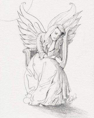 Angel drawing of pencil sketches guardian angel drawings in pencil