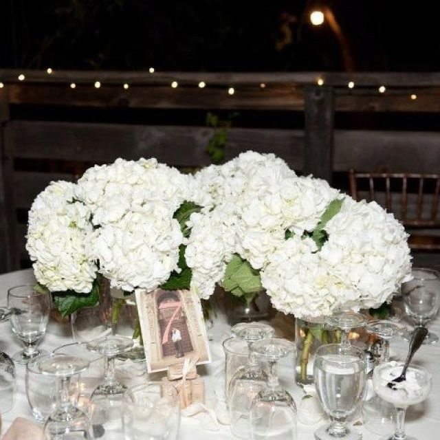 Hydrangea Wedding Centerpieces Ideas