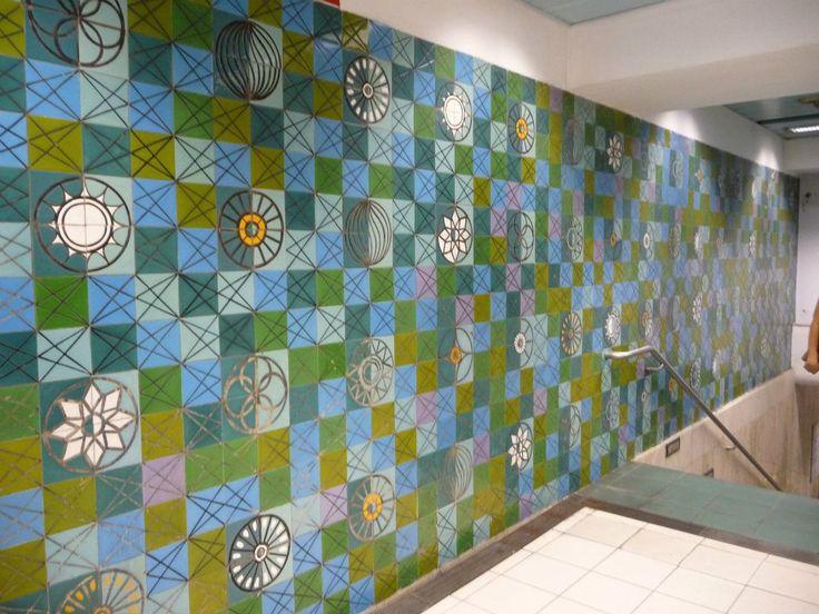 MARIA KEIL (1914-2012) Estação de Metropolitano do Rossio, Lisboa