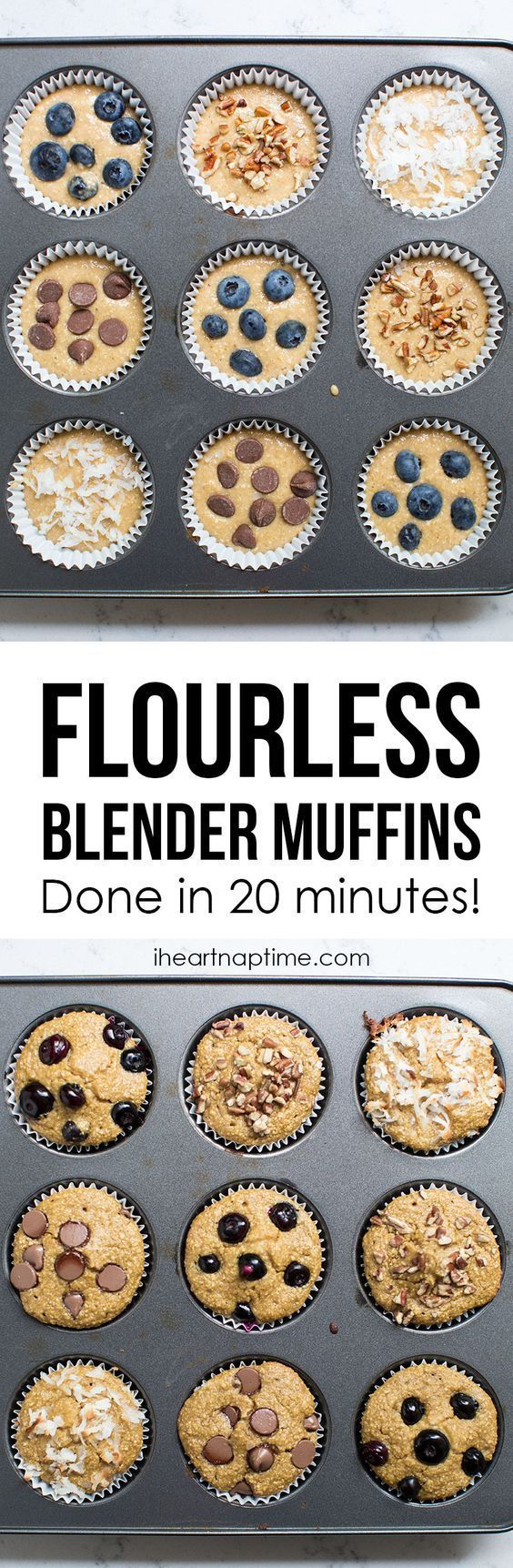 21 Day Fix Oatmeal Muffins --  Each muffin is 1/2 Yellow and 1/2 Purple.