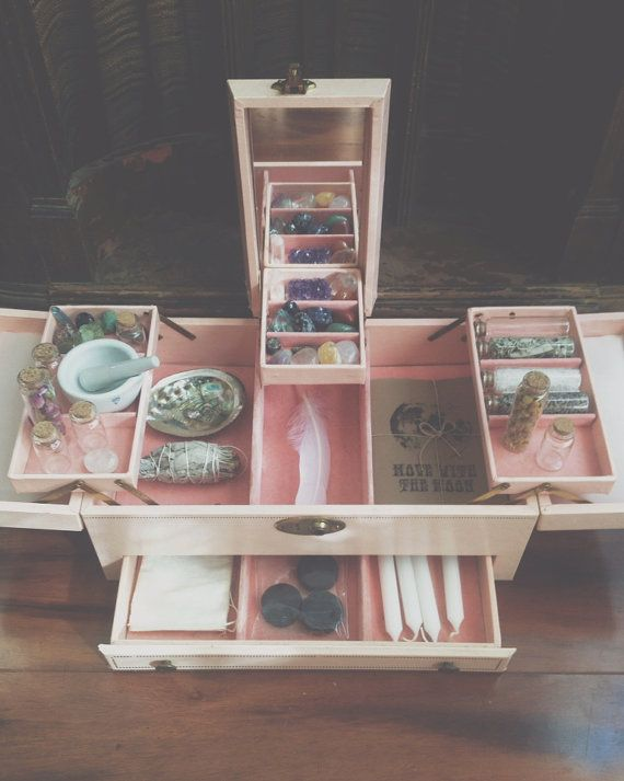 An altar kit / up cycled jewelry box would make a beautiful rite of passage gift for a young woman #ritesofpassage #spirituallife