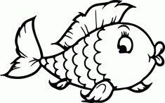 Balık boyama sayfası