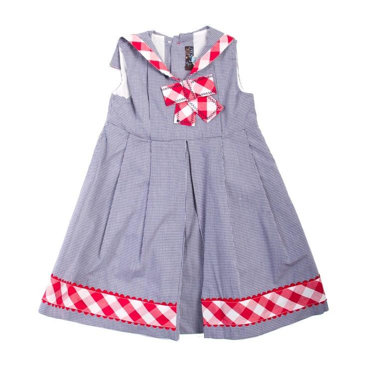Vestido marinero micro vichy