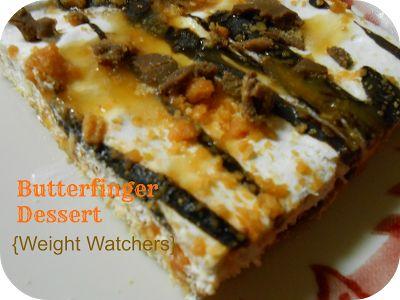 The Better Baker: Butterfinger Dessert {Weight Watchers}: Weights Watchers Desserts, Weight Watchers, Desserts Weights, Butterfinger Desserts, Healthy Butterf, Watchers Recipes, Healthy Recipes, Better Baker, Butterf Desserts