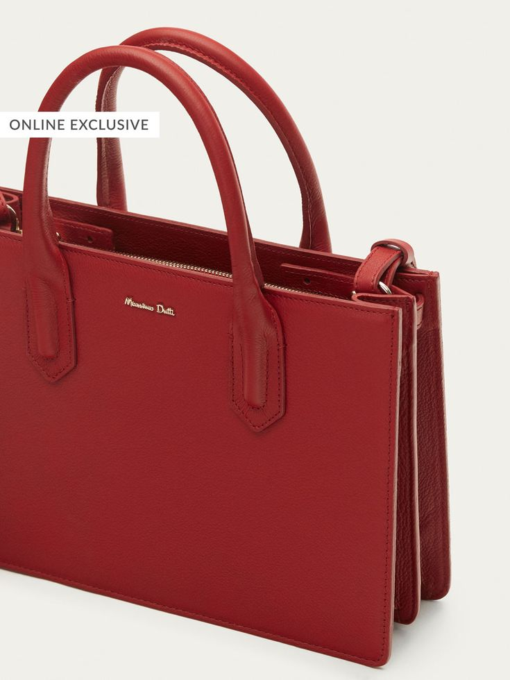Fall Winter 2017 Women´s SOLID LEATHER TOTE BAG at Massimo Dutti for 195. Effortless elegance!