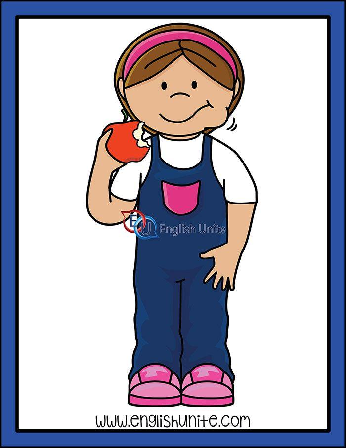 Apples Girl Eating Apple Apple Clip Art Clip Art Art Girl