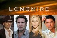 "Longmire 1st aired 08/12/2012. Cast: L-R: Bailey Chase (Branch Connally); Robert Taylor (Sheriff Walt Longmire); Katee Sackhoff (Victoria ""Vic"" Moretti); and Lou Diamond Phillips (Henry Standing Bear)"