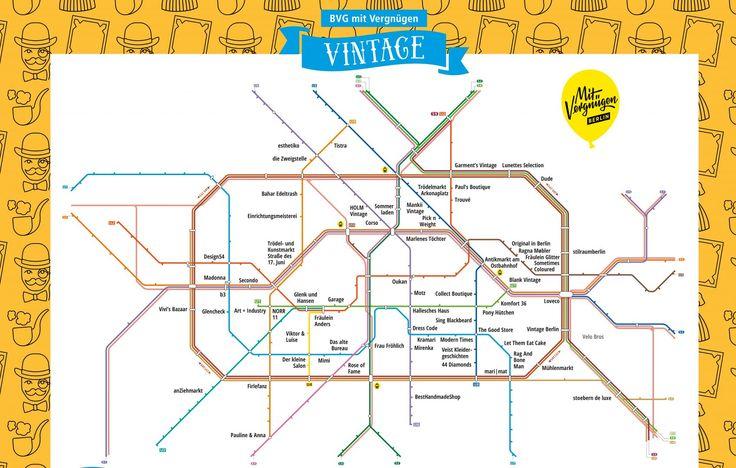In unserer neuesten Netzplan-Karte führen wir euch zu den schönsten Vintage- und Second-Hand-Läden in Berlin.
