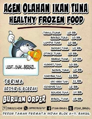 AGEN OLAHAN IKAN TUNA Makanan bergizi, sehat & halal 100% Ikan Tuna Tanpa Bahan Pengawet