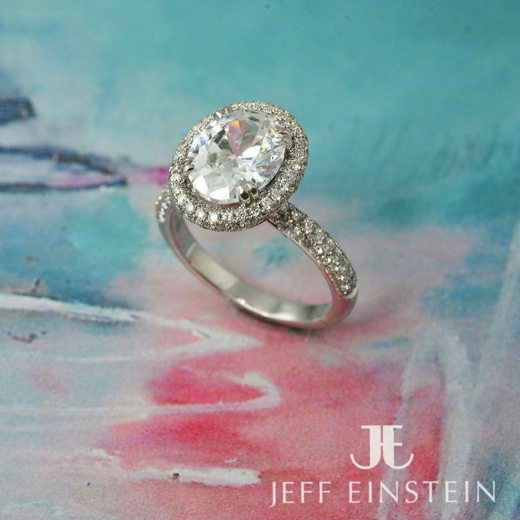 Handmade by a team of jewellers, this is a ring as unique as your love.  #JeffEinstein #EngagementRing #DiamondRing #Diamonds #OvalDiamond #FancyCut #Halo #WhiteGold #Handmade #DoubleBay #Sydney