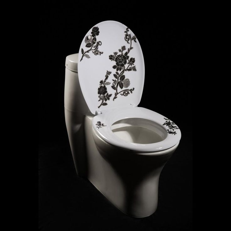 black and white toilet seat. Change out your existing melamine toilet seat cover for this gorgeous model  featuring a unique floral design on stark white background Best 25 Eclectic seats ideas Pinterest