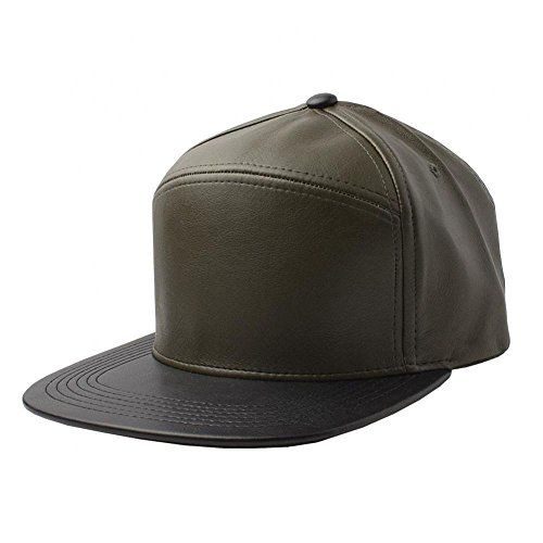 Olive/Black-NEW Plain Flat Bill Faux Leather Snapback Panel Hat Baseball Cap Hip Hop Adjustable (US Seller)  //Price: $ & FREE Shipping //     #sports #sport #active #fit #football #soccer #basketball #ball #gametime   #fun #game #games #crowd #fans #play #playing #player #field #green #grass #score   #goal #action #kick #throw #pass #win #winning
