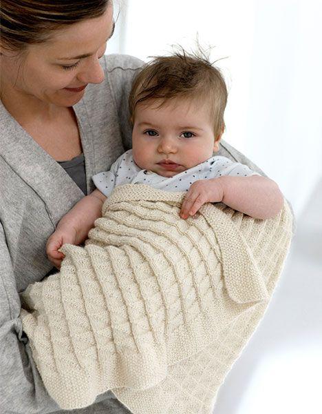 Plaiden er strikket i bare ret og vang og er derfor meget nemmere at strikke, end det ser ud til.