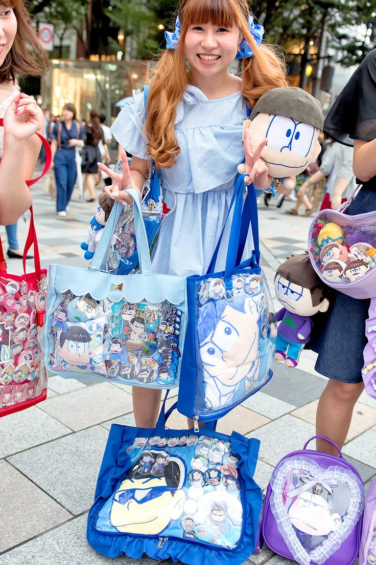 "tokyo-fashion: ""Fun Osomatsu fans on the street in Harajuku. """