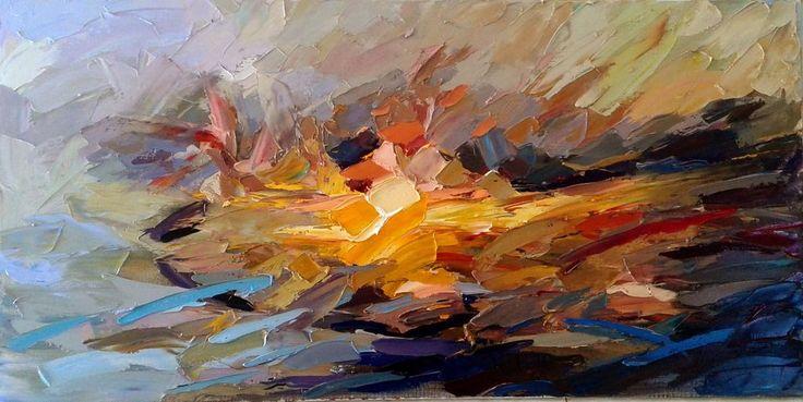 Neapolitan contemporary painter. Impressionismo informale.