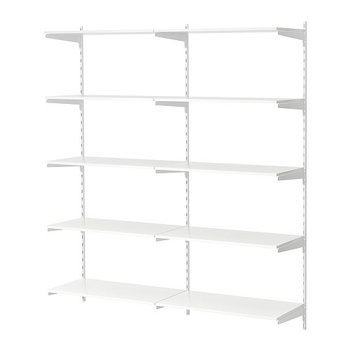 Ikea antonius 2 sections wall upright white for Ikea article number