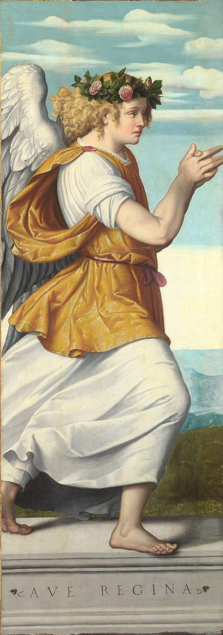 Moretto da Brescia - An Adoring Angel (2) - Google Art Project - Category:Google Art Project works by Moretto da Brescia - Wikimedia Commons