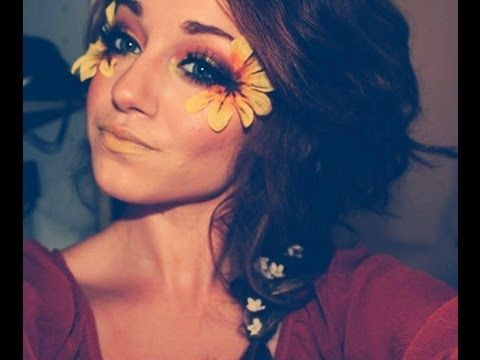 Festival Flower Makeup - YouTube | i think i might wanna do a hippie/flower child look at work this halloween (lol, 9 months from now :p)