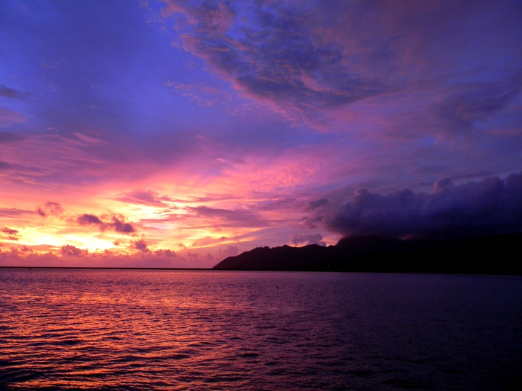 Sunset in Langkawi (according to first Pinner)