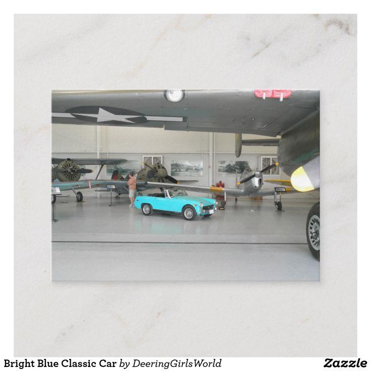 Bright Blue Classic Car Calling Card   Zazzle.com