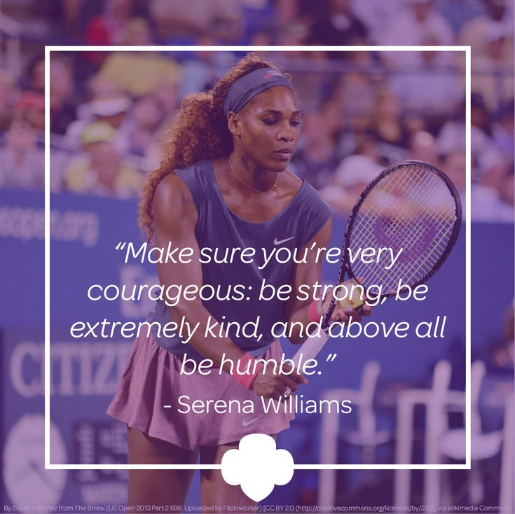 Serena Williams, Sports Illustrated's Sportsperson of the Year, is a role model and inspiration for girls everywhere. #inspiration #GirlScouts
