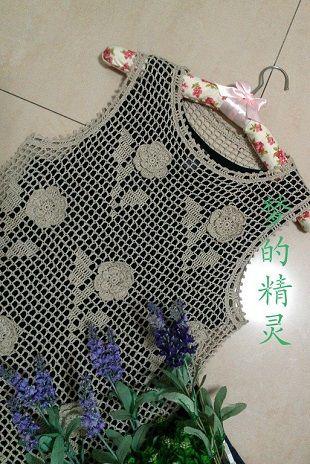 Вязание филейного топа