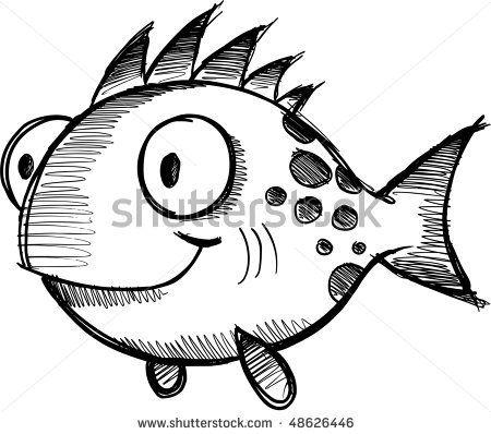 Doodle fish h ada googlom no pinterest doodles for Cartoon fish drawing