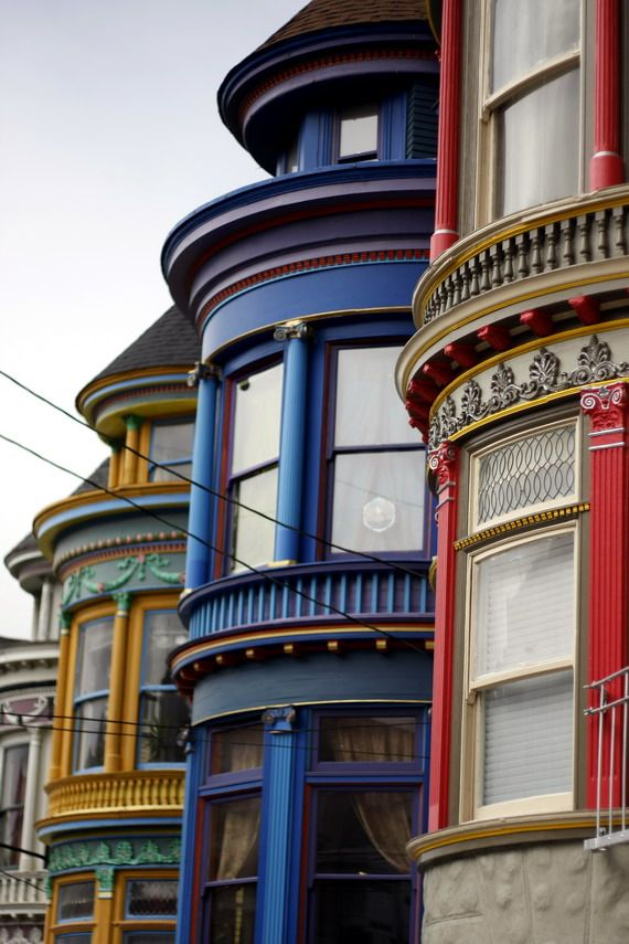 colorful houses in San Francisco