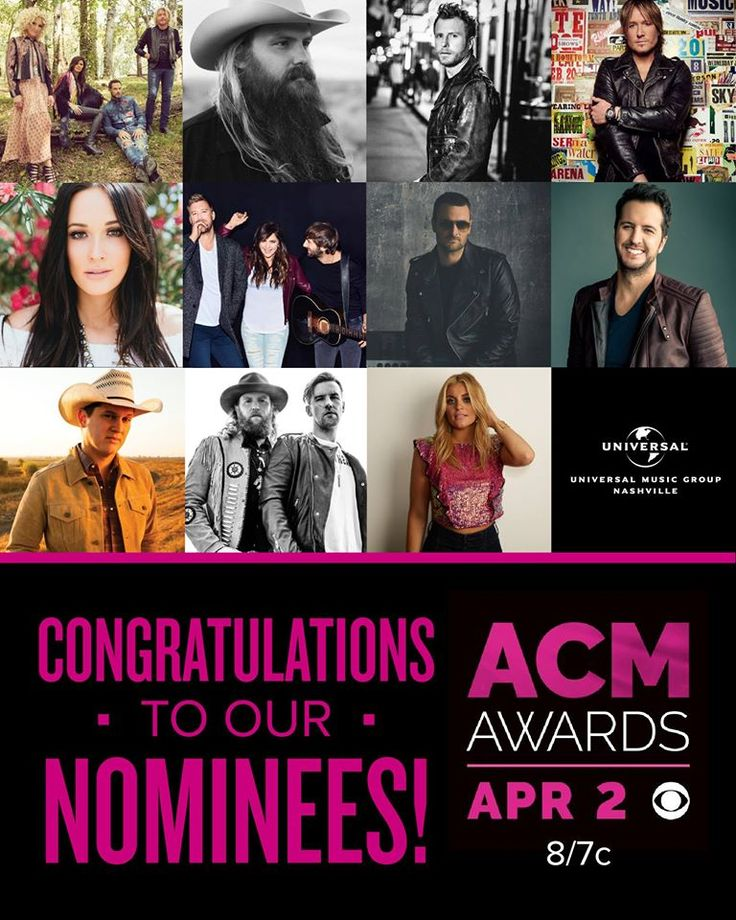 Congrats to all of our Academy of Country Music Award nominees!