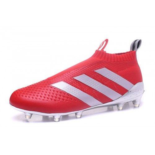 Barato Adidas ACE 16 Purecontrol FG Rojo Plata