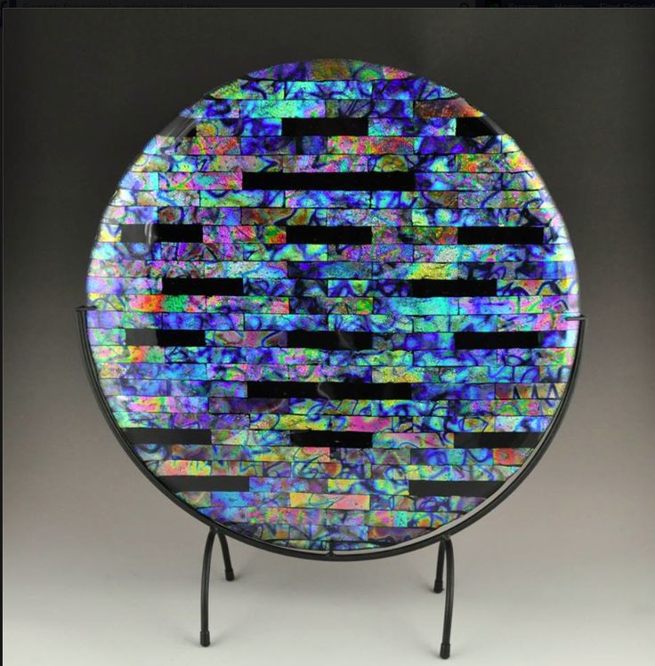 Beautiful fused glass plate pinterest