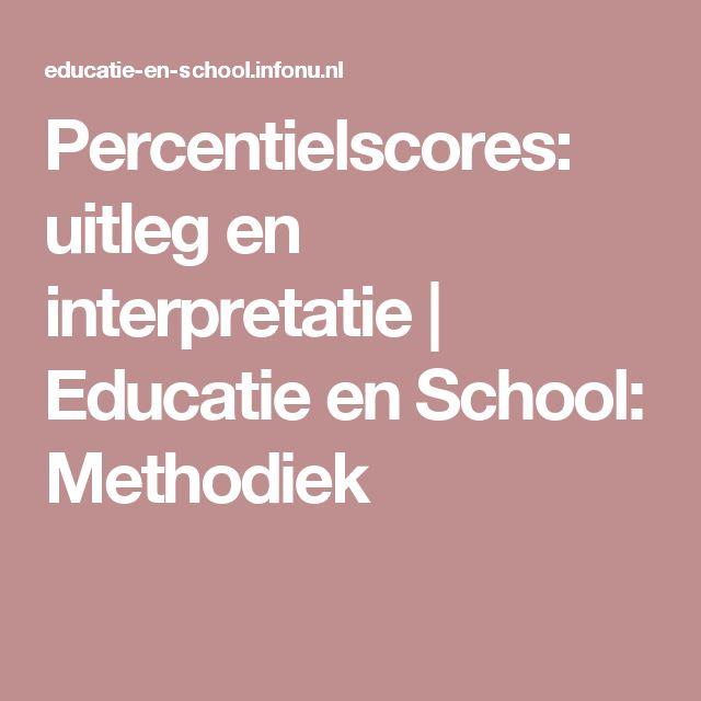Percentielscores: uitleg en interpretatie | Educatie en School: Methodiek