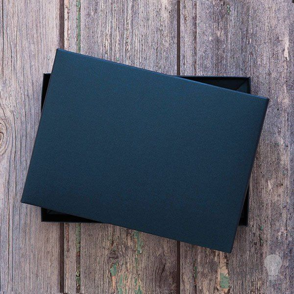 Navy greetings card box. Box for wedding invitations. Boxed invitations. Pearlised navy.  DIY wedding stationery and craft supplies from Imagine DIY