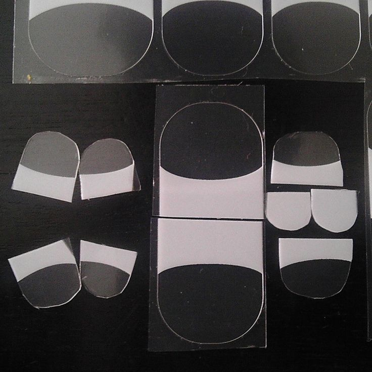 This is approximately how I cut the pieces out of the 3 wrap strips, as per the purple graphic above.
